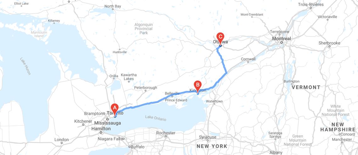 Rideshare Toronto to Ottawa